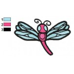 Free Animal for kids Dragonfly Embroidery Design