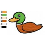 Free Animal for kids Duck Embroidery Design