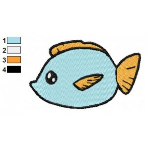 Free Animal for kids Fish Embroidery Design