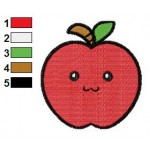 Free Apple 02 Embroidery Designs