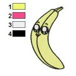 Free Banana 01 Embroidery Designs