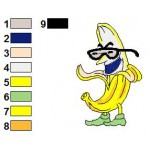 Free Banana Funny Veggies Embroidery Design