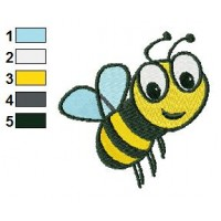 Free Bee 01 Embroidery Design