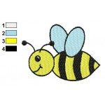 Free Bee 02 Embroidery Design