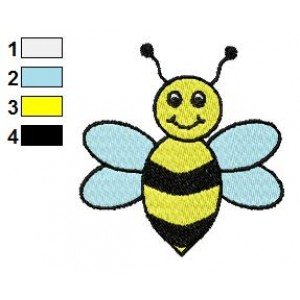 Free Bee 03 Embroidery Design