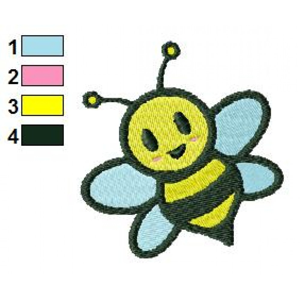 Free bee embroidery design