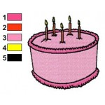 Free Birthday Cake Embroidery Designs