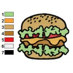Free Burger Embroidery Designs