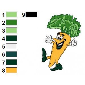 Free Carrots Funny Veggies Embroidery Design