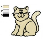 Free Cat Embroidery Design