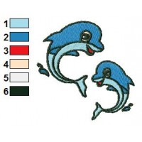 Free Dolphin 02 Embroidery Design