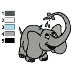 Free Elephant 03 Embroidery Design
