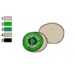 Free Food Kiwi Embroidery Design