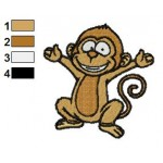 Free Happy Monkey Embroidery Design