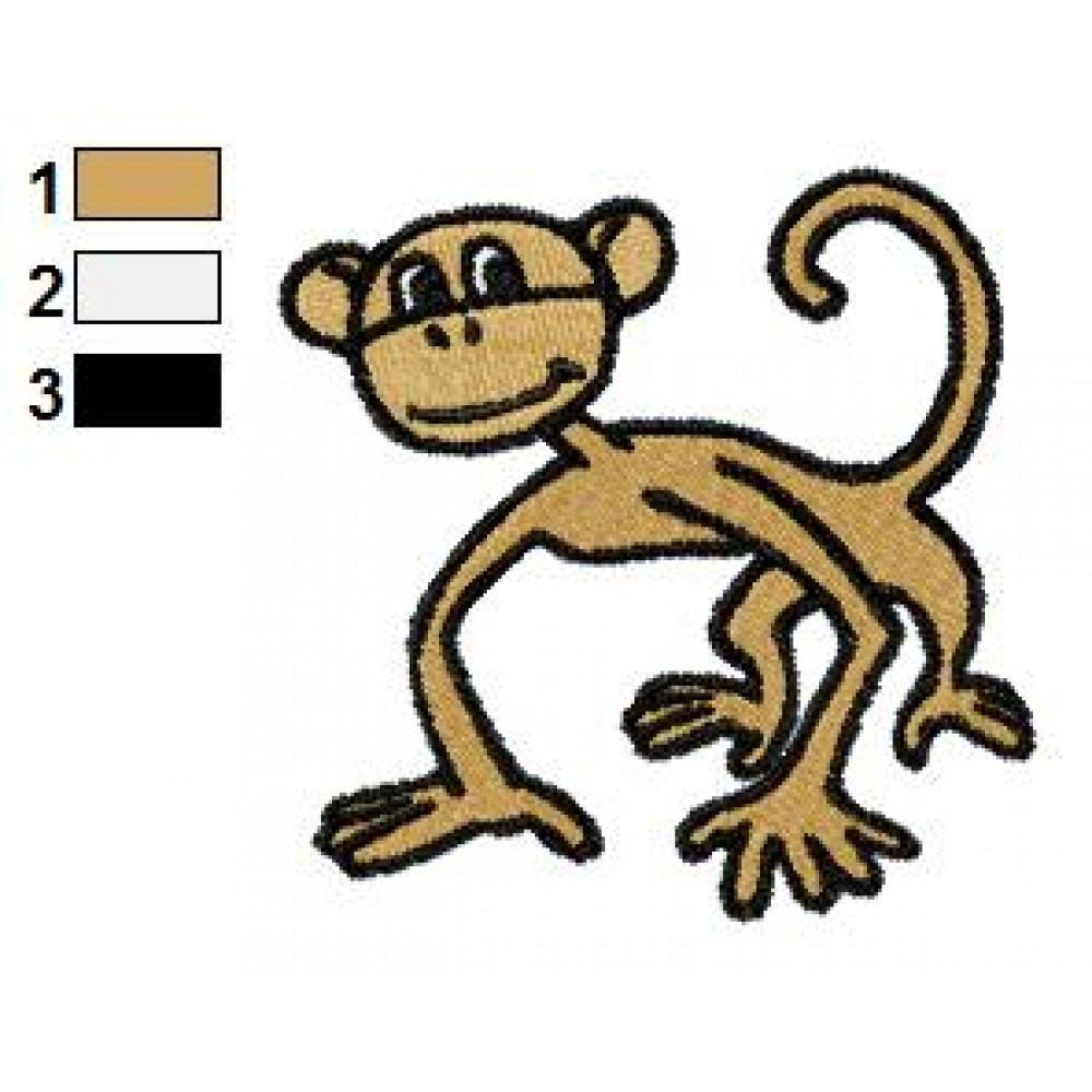 Free Monkey 01 Embroidery Design