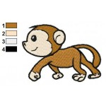 Free Monkey 02 Embroidery Design