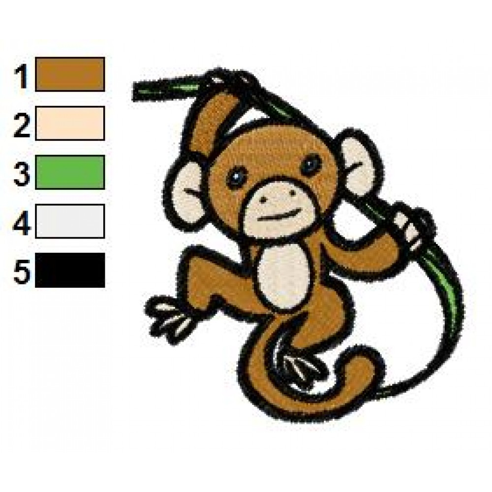 Free Monkey 03 Embroidery Design