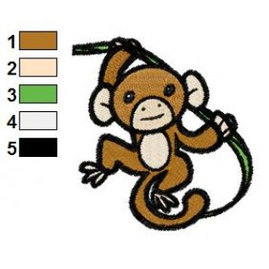 Free Monkey 03 Embroidery Design