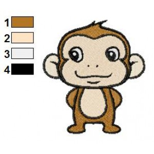 Free Monkey 05 Embroidery Design