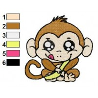 Free Monkey Baby Embroidery Design