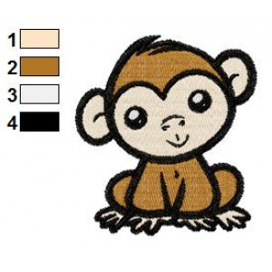 Free Monkey Chimpanzee Embroidery Design