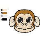 Free Monkey Face Embroidery Design