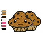 Free Muffins Embroidery Designs