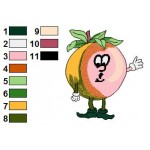 Free Orange Funny Veggies Embroidery Design