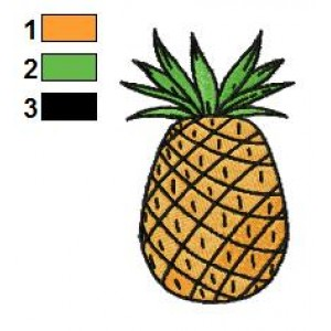 Free Pineapple Embroidery Designs