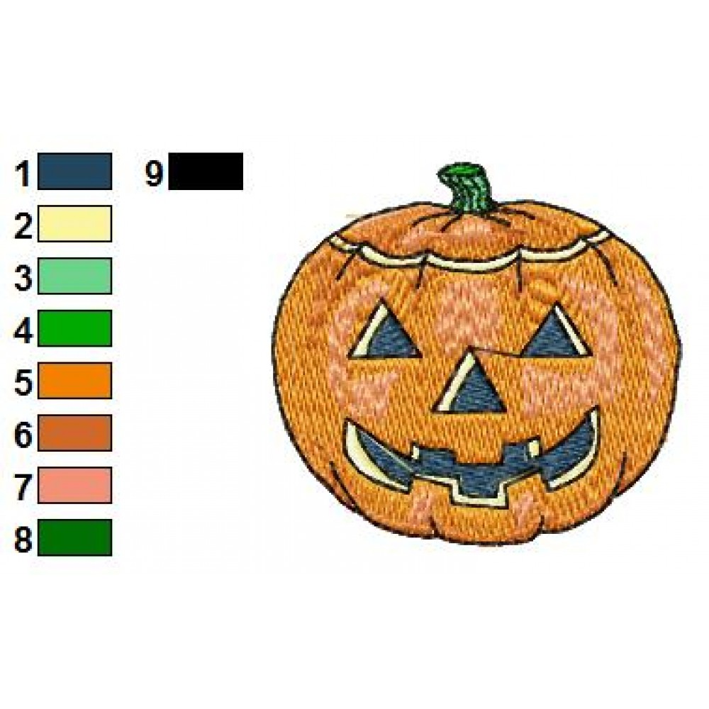 Free pumpkin embroidery design