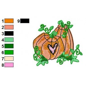 Free Pumpkin 05 Embroidery Design