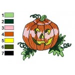 Free Pumpkin 06 Embroidery Design