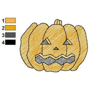 Free Pumpkin 08 Embroidery Design