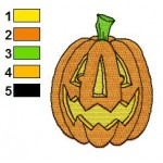 Free Pumpkin 10 Embroidery Design