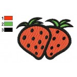 Free Strawberries 01 Embroidery Designs