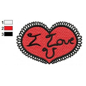 Free Valentine Heart 02 Embroidery Design