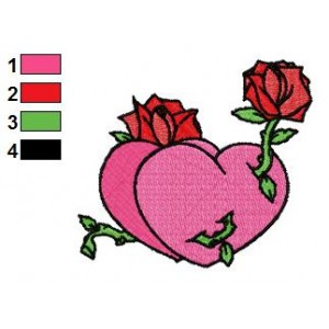 Free Valentine Heart 03 Embroidery Design