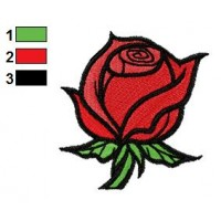 Free Valentine Rose Embroidery Design