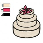 Free Wedding Cake Embroidery Designs