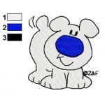 Fuzz the Dog Embroidery Design 02