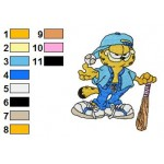 Garfield 09 Embroidery Design