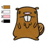 Gravity Falls Beaver Embroidery Design