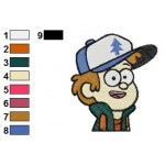 Gravity Falls Dipper Pines 01 Embroidery Design