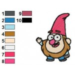 Gravity Falls Gnome Embroidery Design