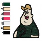 Gravity Falls Soos Embroidery Design