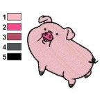 Gravity Falls Waddles Embroidery Design