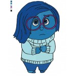 Inside Out Sadness 03 Embroidery Design
