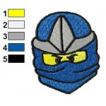 Jay ZX Lego Ninjago Face Embroidery Design