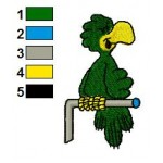 Josh the Parrot Embroidery Design 02