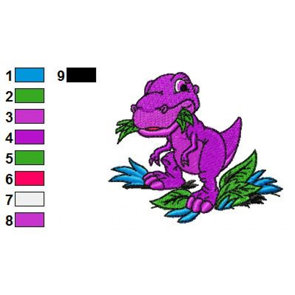 Land Before Time Chomper 02 Embroidery Design
